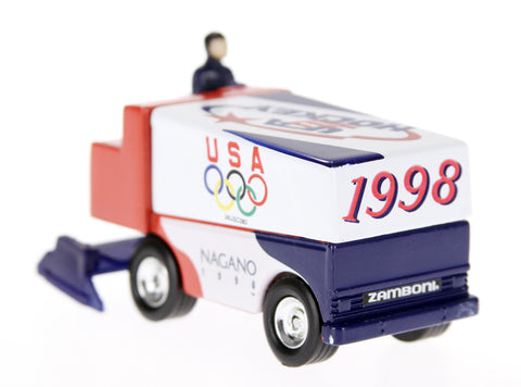 1998 Nagano Olympics Limited Edition USA Hockey 1:50 Scale Diecast Zamboni (R...