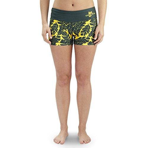 NCAA Women's Oregon Ducks Thematic Print Bootie Shorts, Green