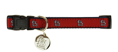 Sporty K9 MLB St. Louis Cardinals Ribbon Dog Collar