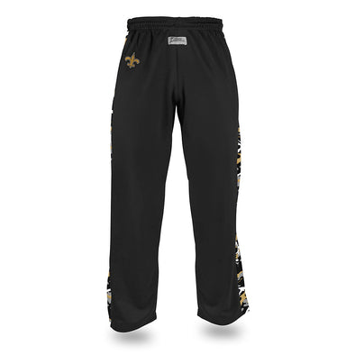 Zubaz Men's NFL New Orleans Saints Camo Print Stadium Pants