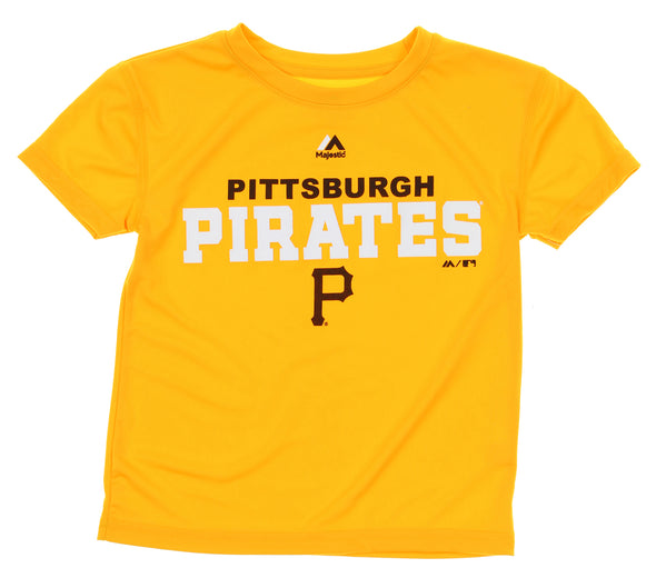 Outerstuff MLB Kids Pittsburgh Pirates Roll Call Short Sleeve Tee Shirt, Yellow