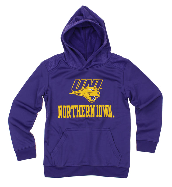 NCAA Youth Northern Iowa Panthers Performance Hoodie, Purple
