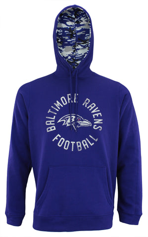 Zubaz NFL Men's Baltimore Ravens Camo Lined Pullover Hoodie