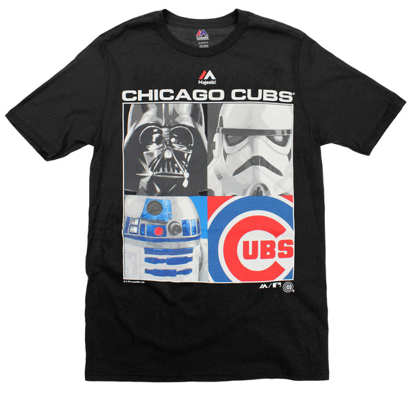 MLB Youth Chicago Cubs Star Wars Main Character T-Shirt, Black