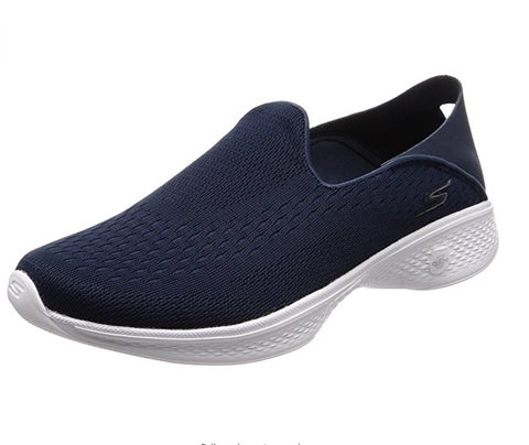 Skechers Women's Go Walk 4 Convertible Slip On Shoes, Navy