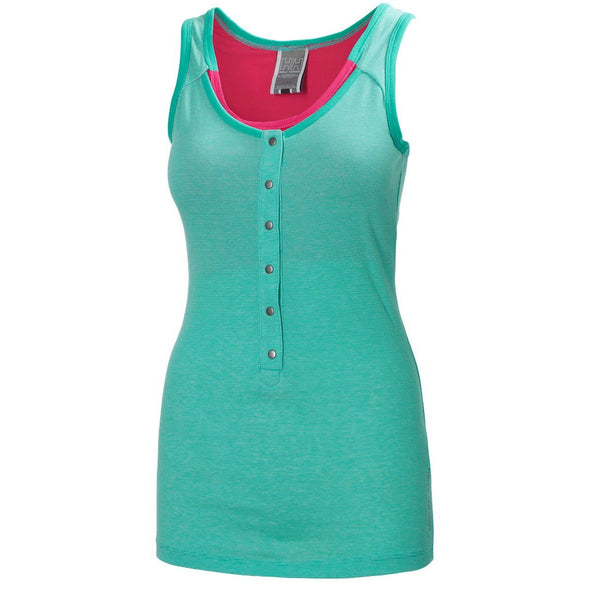 Helly Hansen Women's Jotun Supportive Tank Top Shirt - Coral & Green
