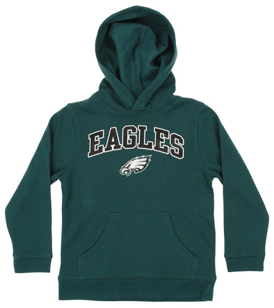 OuterStuff NFL Youth Boys Team Color Fleece Hoodie, Philadelphia Eagles