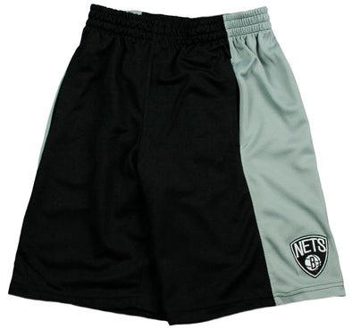 Zipway NBA Basketball Men's Brooklyn Nets Malone Shorts, Black & Grey