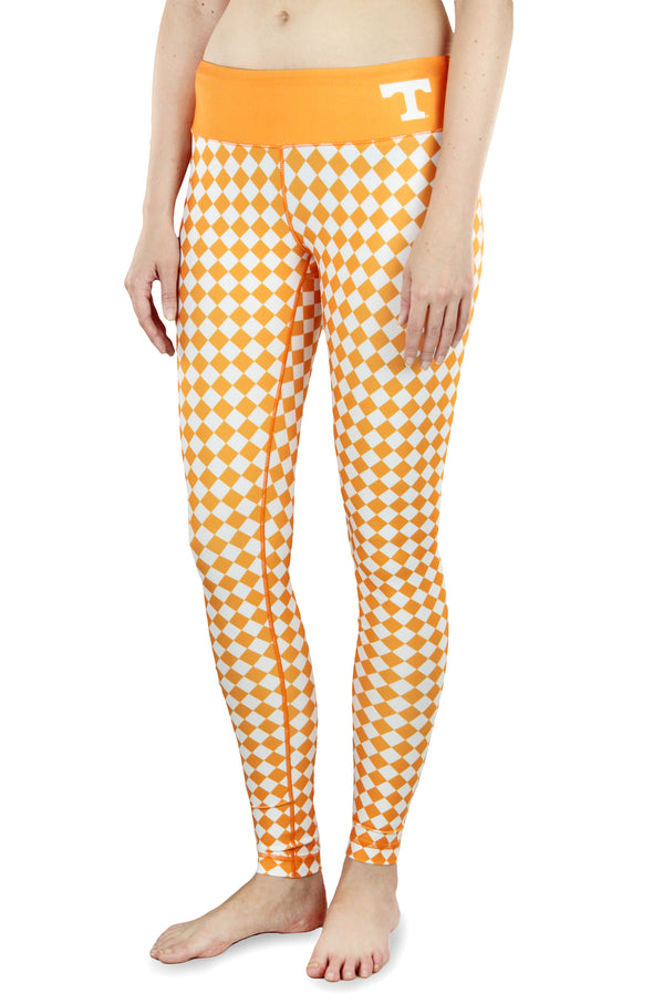NCAA Women's Tennessee Volunteers Thematic Print Leggings, Orange