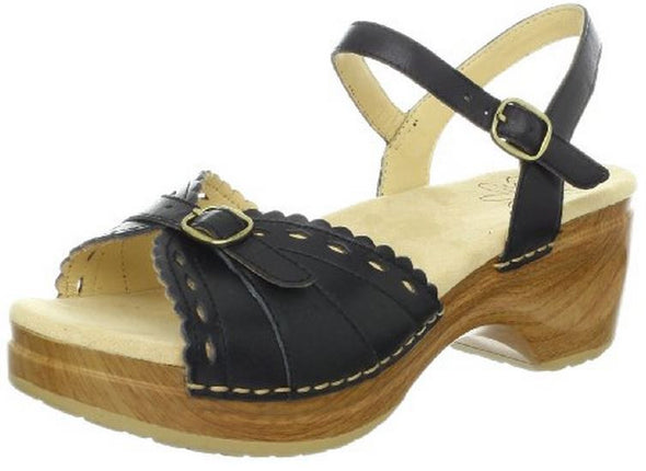 Sanita Women's Dawn Platform Heels Sandals - Black & Brown