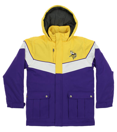 Outerstuff NFL Youth Minnesota Vikings All American Heavy Weight Parka Jacket