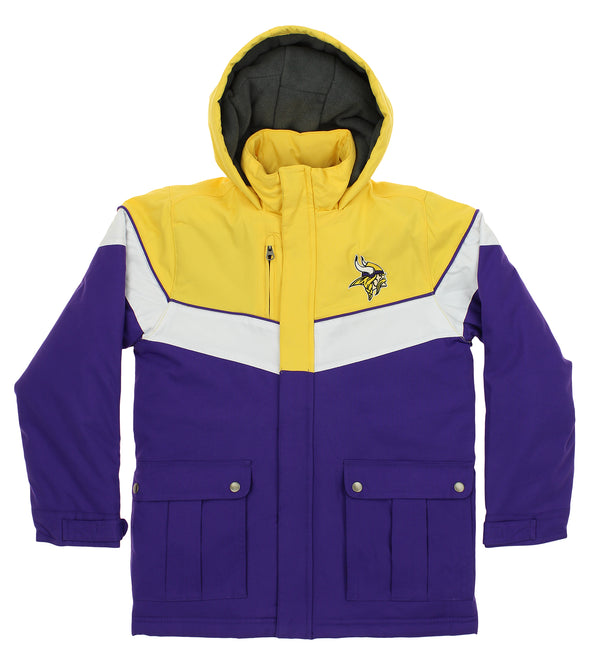 "Outerstuff NFL Youth Minnesota Vikings ""All American"" Heavy Weight Parka Jacket"