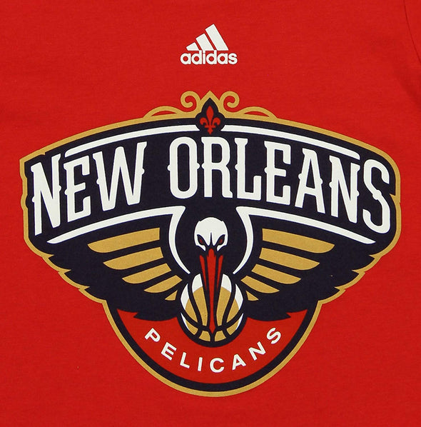 Adidas NBA Toddlers New Orleans Pelicans Short Sleeve Primary Logo Tee, Red