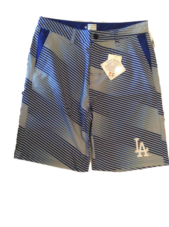 Forever Collectibles MLB Men's Los Angeles Dodgers Diagonal Stripe Walking Shorts