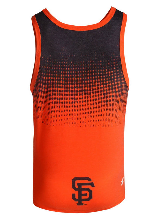 MLB Men's San Francisco Giants Big Logo Tank Top Shirt, Black/Orange