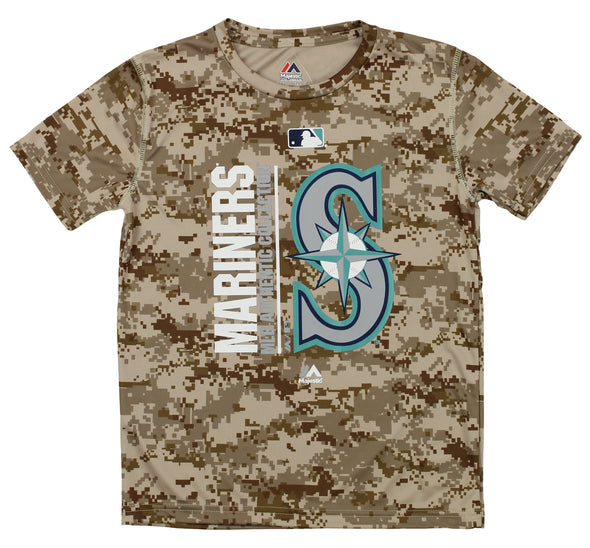 Outerstuff MLB Youth Seattle Mariners Short Sleeve AC Team Icon Tee