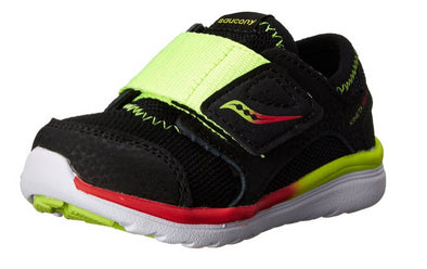 Saucony Toddlers Kineta ALT Closure Sneaker, Black/Citron