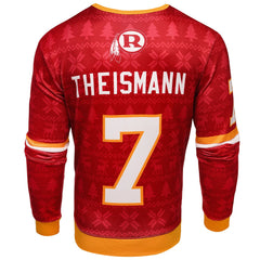 wholesale dealer 3ad3e 29eb5 NFL Men's Washington Redskins Joe Theismann #7 Retired Player Ugly Sweater