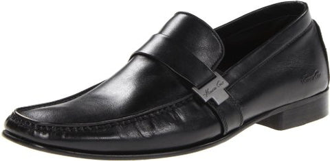 Kenneth Cole New York Men's Florence Loafers Slip On Leather Shoes, Black