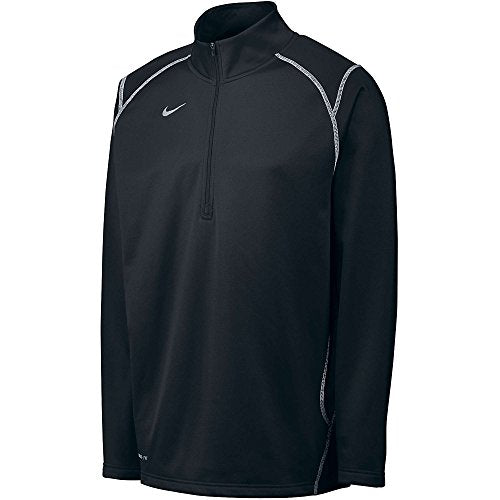 Nike Men's Thermafit Quarter Zip Pullover Sweatshirt, Color Options (3X-Large, Black)