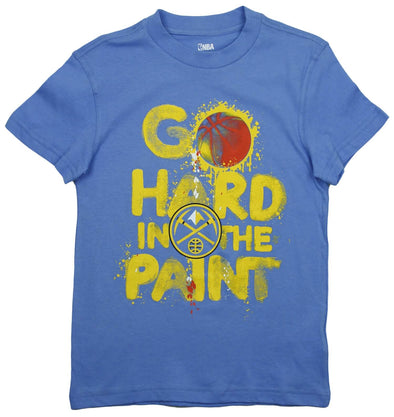NBA Basketball Kids / Youth Denver Nuggets Go Hard In The Paint Shirt - Blue