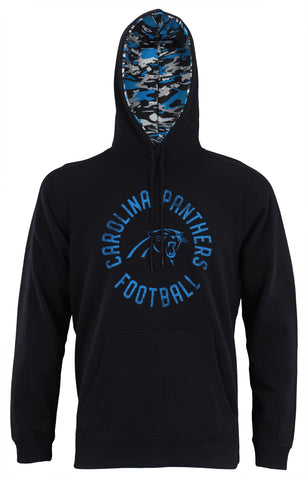Zubaz NFL Men's Carolina Panthers Camo Lined Pullover Hoodie