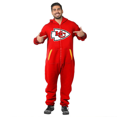 Forever Collectibles NFL Unisex Kansas City Chiefs Logo Jumpsuit, Red