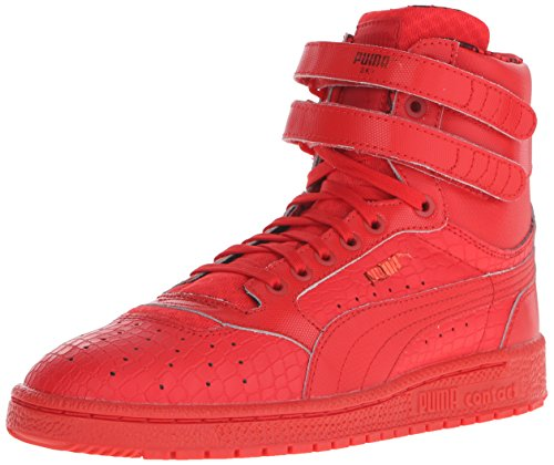 PUMA Women's Sky II Hi Roses Sneaker, High Risk Red/Black