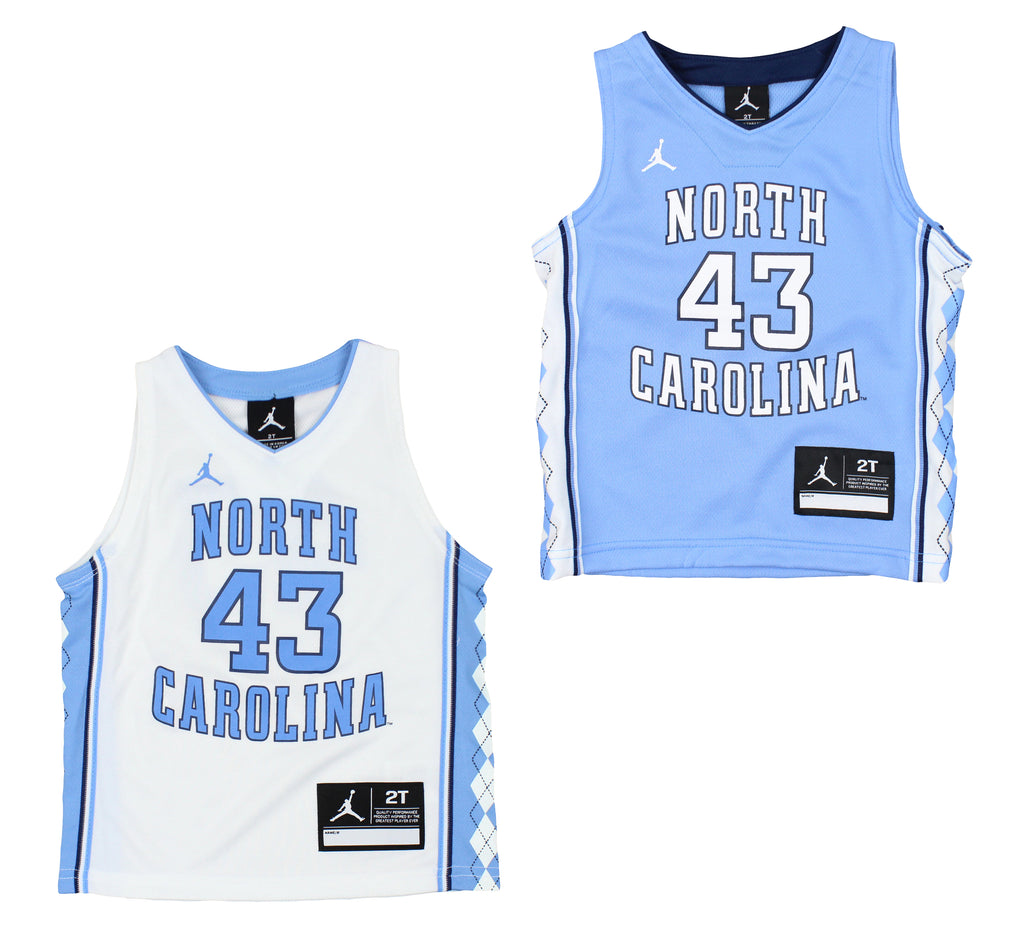 4d388bdb89a Air Jordan Toddler UNC North Carolina Tar Heels  43 Basketball ...