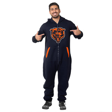 Forever Collectibles NFL Unisex Chicago Bears Logo Jumpsuit, Navy