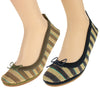 Yosi Samra Women's Sandrine Striped Jute Flats, 2 Color Options