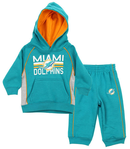 NFL Toddlers Miami Dolphins Classic Fan 2 Piece Hoodie   Pant Set def9968f7