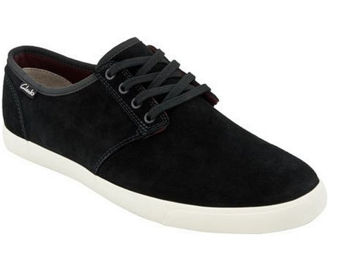 Clarks Men's Torbay Oxfords Suede Lace Up Sneakers Shoes - Black