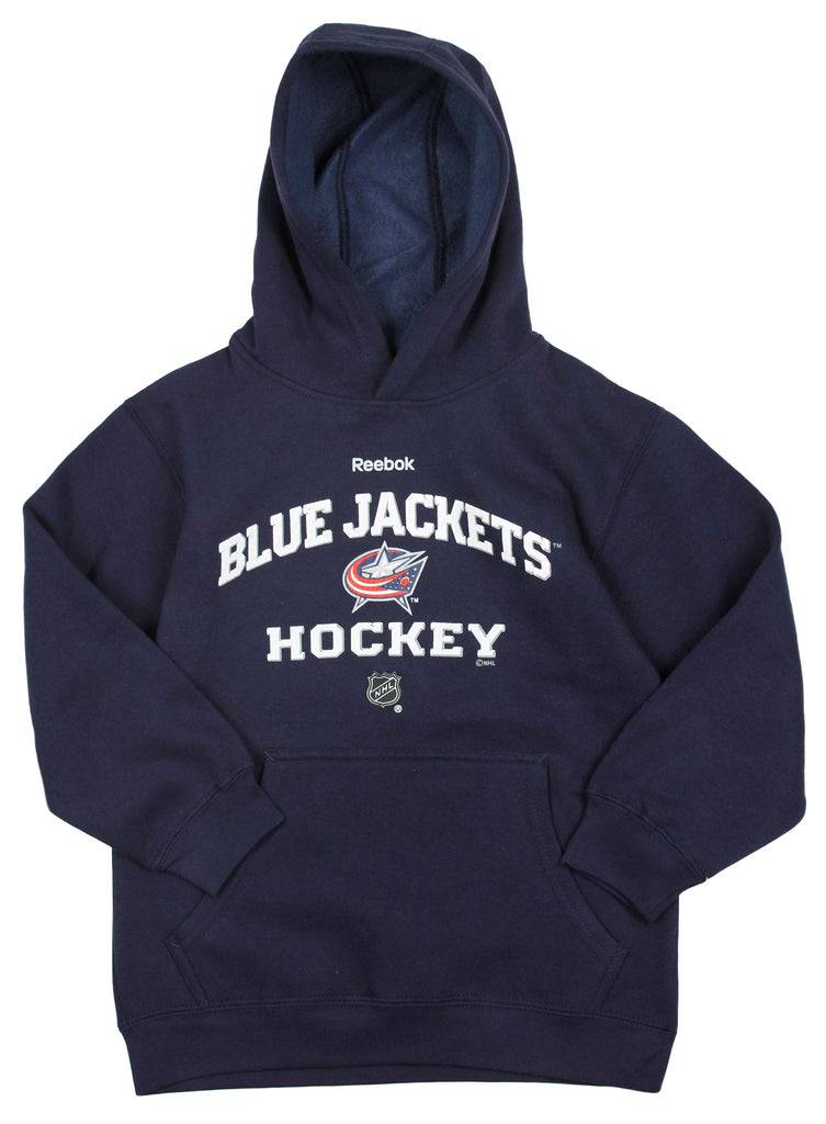 dac776afb Reebok NHL Hockey Youth Columbus Blue Jackets Pullover Hoodie Sweatshirt -  Navy