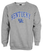 Genuine Stuff NCAA Men's University of Kentucky Wildcats Crew Sweatshirt - Grey