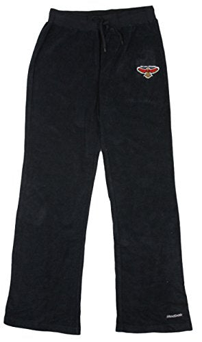 Reebok NBA Womens Atlanta Hawks Terry Cloth Athletic Sweatpants, Black