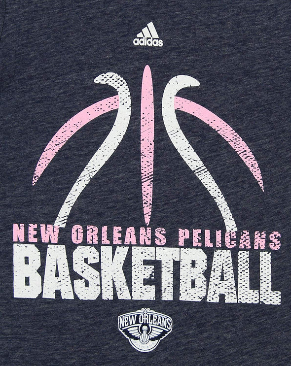 Reebok NBA Youth Girl's New Orleans Pelicans Short Sleeve Flamingo Tee
