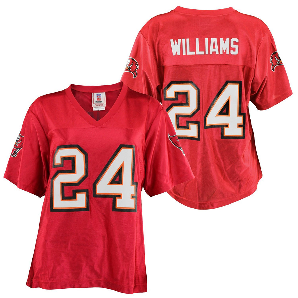 f8969926 NFL Women's Tampa Bay Buccaneers Carnell Cadillac Williams #24 Dazzle  Jersey, Red