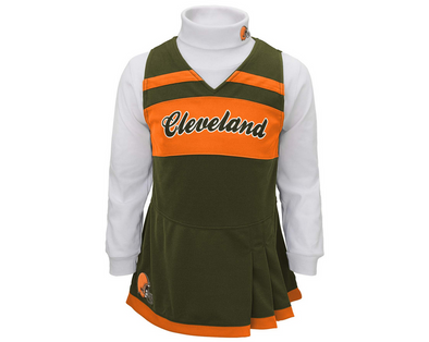Outerstuff NFL Toddler Girls Cleveland Browns Cheer Jumper Dress