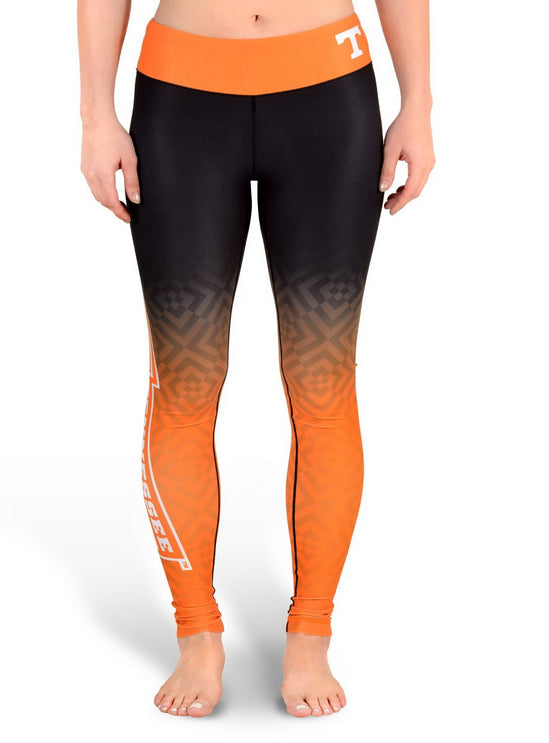 NCAA Women's Tennessee Volunteers Gradient Print Leggings, Black