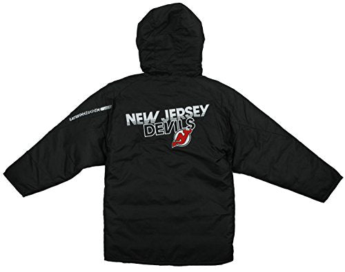 Reebok NHL Youth Boy's New Jersey Devils TNT Hooded Winter Jacket - Black