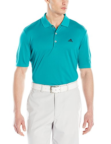 adidas Golf Men's Branded Performance Polo Short Sleeve Shirt, Green