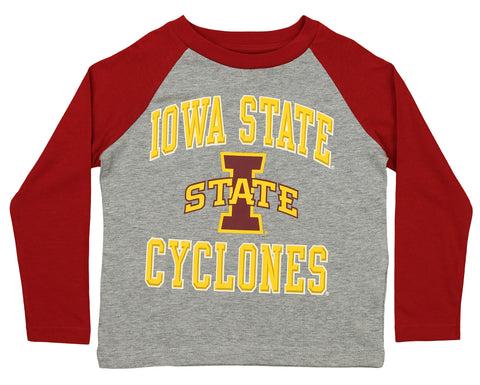 Outerstuff NCAA Kids Iowa State Cyclones Constant Long Sleeve Raglan Tee