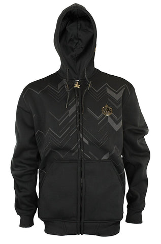 Zipway NBA Men's New Orleans Pelicans Signature Black and Gold Full Zip Hoodie