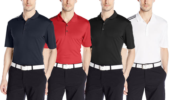 Adidas Golf Men's Climacool 3-Stripes Polo Shirt, Color Options