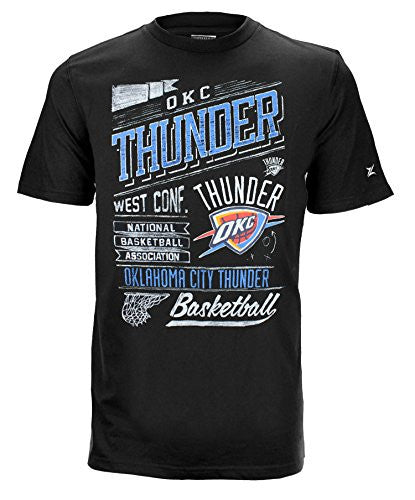 Zipway NBA Men's Oklahoma City Thunder Headline Short Sleeve T-Shirt, Black