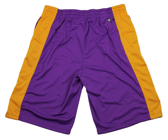 Zipway NBA Big and Tall Men's Los Angeles Lakers Team Color Shorts - Purple