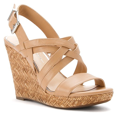 Jessica Simpson Women's Julita Wedge High Heel Strappy Leather Sandal, 3 Colors