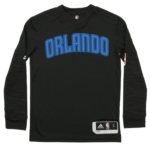 Adidas NBA Youth Orlando Magic On The Court Long Sleeve Tee, Black