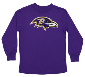 OuterStuff NFL Kids Baltimore Ravens Primary Pullover Hoodie Purple